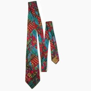 Authentic Hermes Silk Abstract Tie